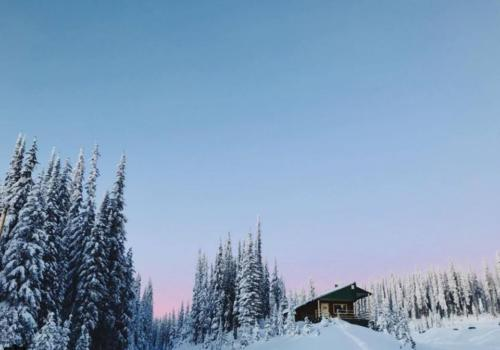 Snowshoe Tour to Sovereign Lake Nordic Centre's Groovy Cabin